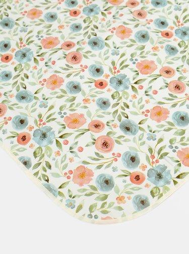 Biely kvetovaný vonkajší obrus Cooksmart 230 x 180 cm