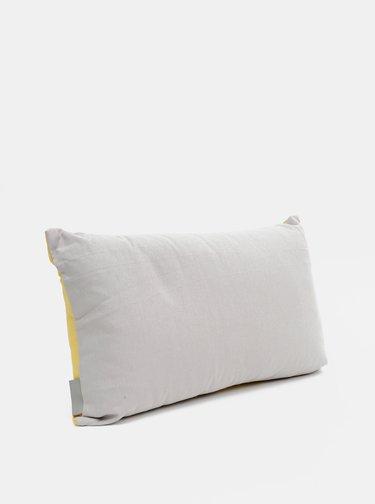 Šedo-žltý vankúš Cooksmart 50 x 30 cm