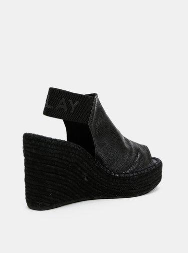 Černé dámské sandálky na klínku Replay