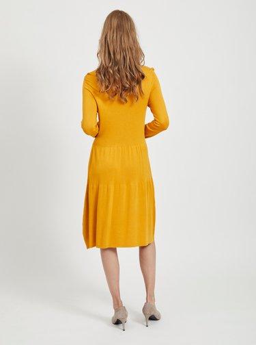 Oranžové šaty VILA Bolonsia