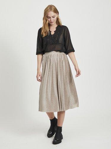 Béžová plisovaná sukňa VILA Pleasa