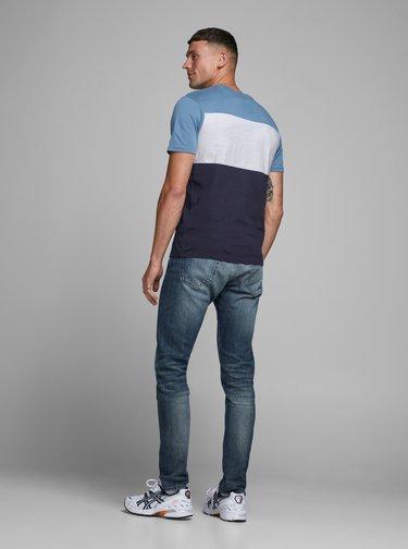 Modré tričko Jack & Jones Logo