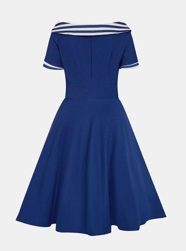 Modré pruhované šaty Dolly & Dotty