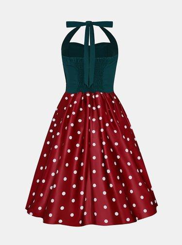 Zeleno-vínové puntíkované šaty Dolly & Dotty
