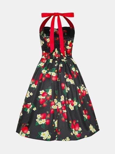 Tmavě zelené květované šaty Dolly & Dotty
