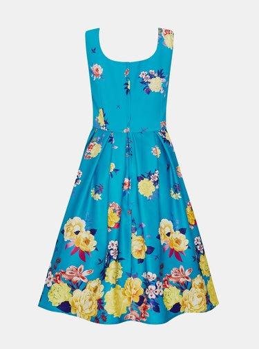 Modré kvetované šaty Dolly & Dotty