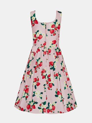 Ružové kvetované šaty Dolly & Dotty