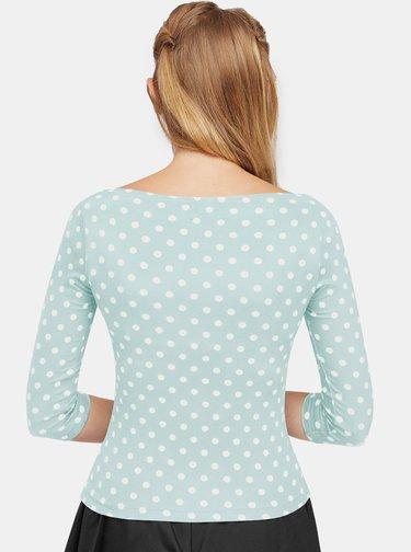 Svetlomodré bodkované tričko Dolly & Dotty