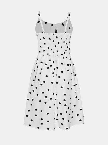 Bílé puntíkované šaty Dolly & Dotty