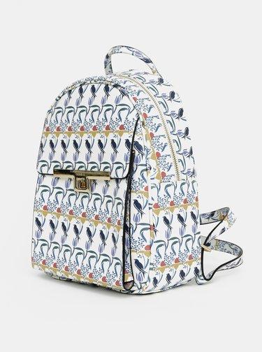 Svetlomodrý vzorovaný batoh Bessie London