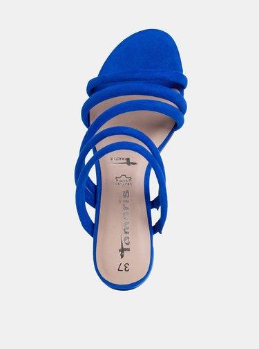 Modré sandálky v semišovej úprave Tamaris