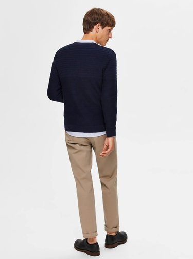 Tmavomodrý sveter Selected Homme