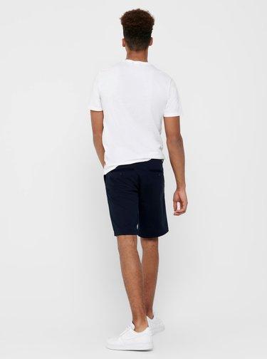 Pantaloni scurti pentru barbati ONLY & SONS - albastru inchis