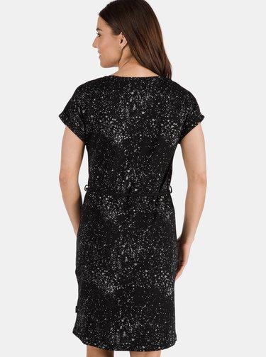 Čierne vzorované šaty SAM 73