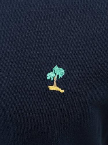 Tmavě modré polo tričko Jack & Jones Cobana