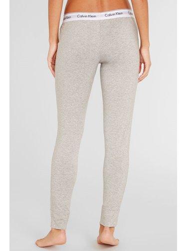 Calvin Klein šedé legíny Legging Pant s bílou širokou gumou