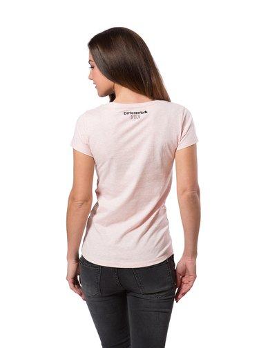 Differenta Design pudrové dámské tričko Tatínek vám vyhlásí válku