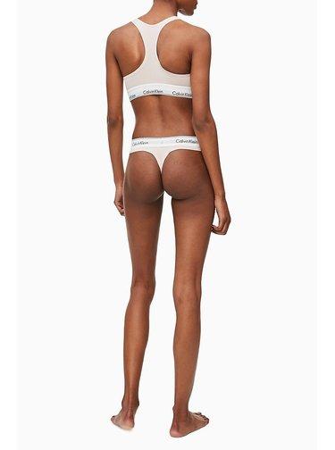 Calvin Klein pudrová tanga Thong