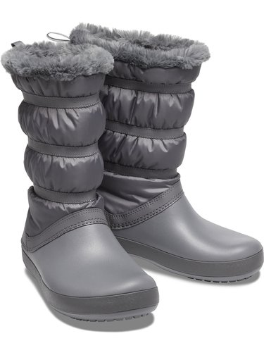 Crocs šedé sněhule Crocband Winter Boot Charcoal