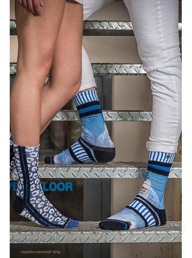 XPOOOS modré pánské ponožky Coastline