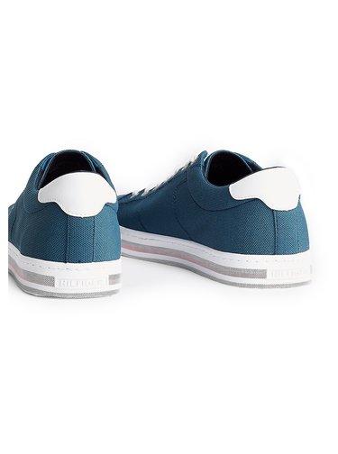 Tommy Hilfiger modré pánské tenisky Seasonal Texitile Sneaker