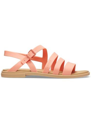 Crocs lososové pásikové sandále Tulum Sandal