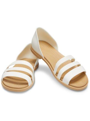 Crocs bílé sandály Tulum Open Flat