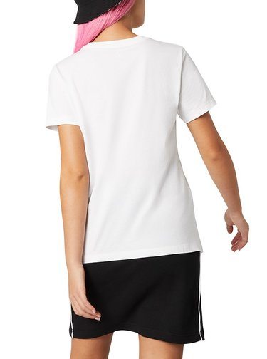 Converse bílé tričko s leopardím motivem