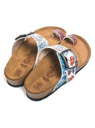 Calceo modré pantofle Thong Sandals Blue Dream