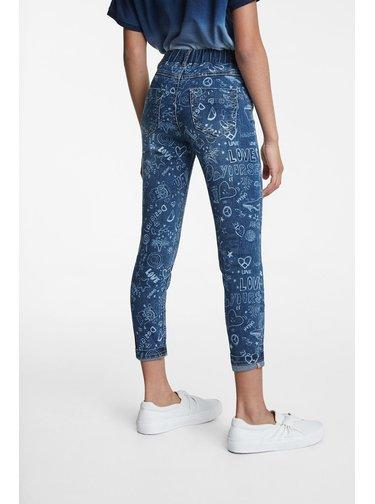 Desigual modré dívčí kalhoty