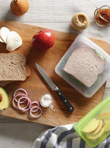 Zelený silikonový sáček na potraviny Stasher Snack 293 ml
