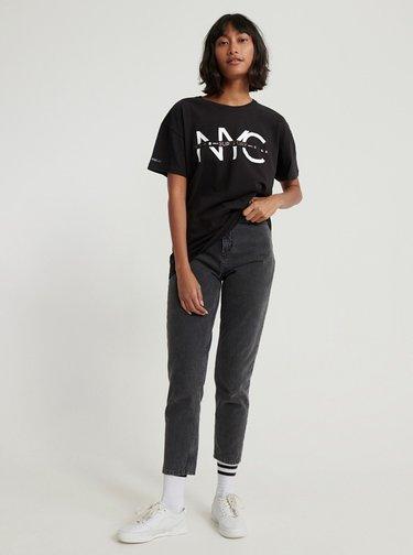 Čierne dámske tričko s potlačou Superdry