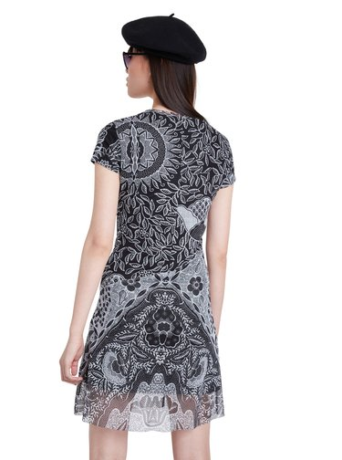 Desigual černé šaty Vest Paris