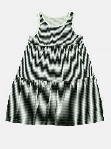 Černo-bílé holčičí pruhované šaty name it Vigga