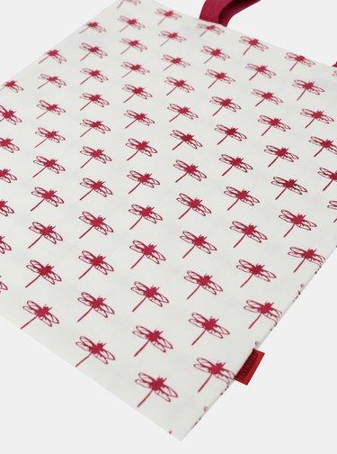 Červeno-bílá taška Tranquillo Red Dragonfly