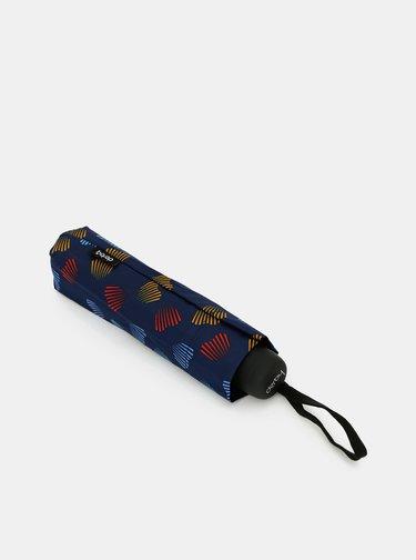 Tmavomodrý vzorovaný skladací dáždnik Doppler