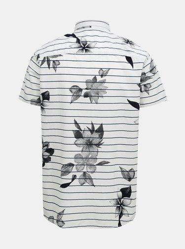 Modro-biela pruhovaná košeľa Jack & Jones Flower