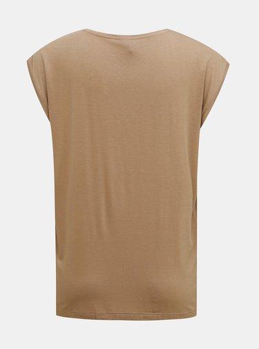 Béžové basic tričko Pieces Billo