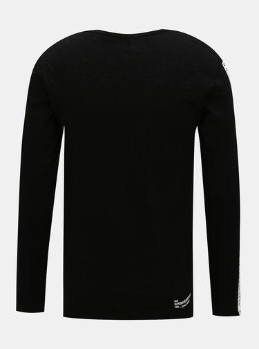 Čierne pánske tričko s pásom Superdry