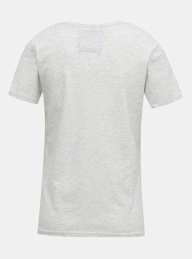 Světle šedé dámské tričko Superdry