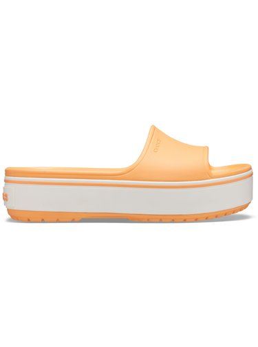Crocs oranžové pantofle na platformě Crocband Platform Slide