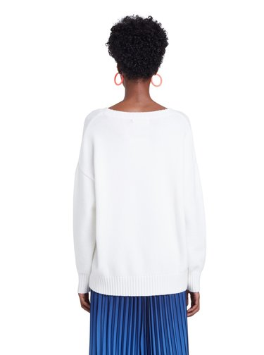 Desigual bílý svetr Jers Yasper
