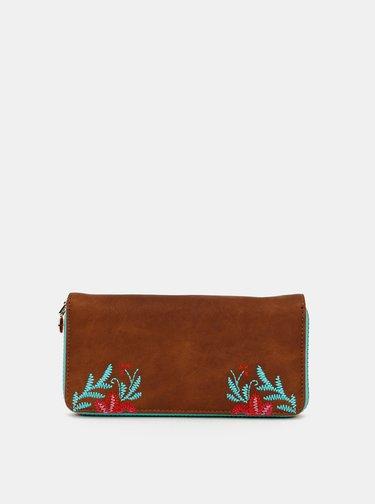 Hnedá vzorovaná peňaženka Desigual