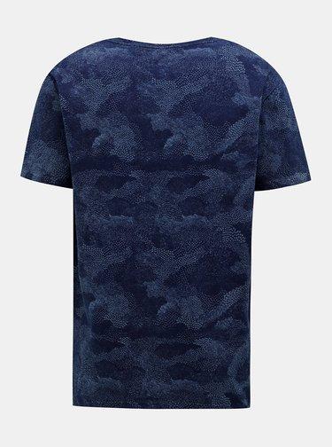 Tmavomodré pánske vzorované tričko Pepe Jeans