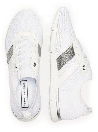 Tommy Hilfiger bílé ponožkové tenisky Feminine Lightweight Sneaker White