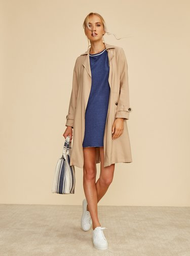 Tmavomodré mikinové basic šaty ZOOT Baseline Millie