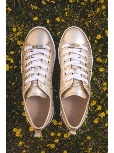 Guess zlaté tenisky Laminated Inserts Neeka Sneaker