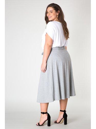 Yesta šedá dámská dlouhá sukně Josje