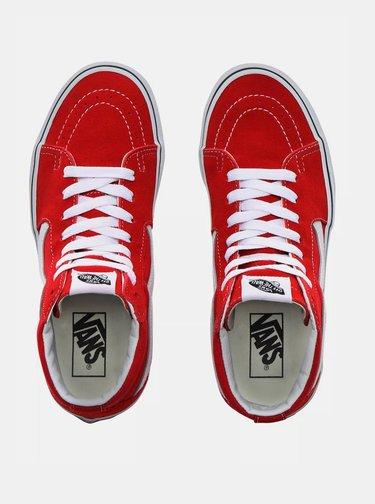 Červené semišové tenisky VANS