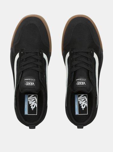 Černé pánské tenisky s koženými detaily VANS